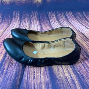 Women's Faux Leather Scrunch Ballet Flats